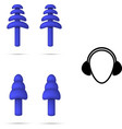 safety rubber flange ear plugs vector image vector image