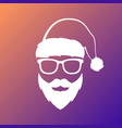 santa claus with mustache and beard vector image vector image