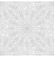 seamless city pattern top view map with ro vector image