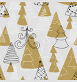seamless pattern hand drawn sketch christmas vector image vector image