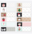 set cute winter stickers vector image