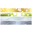 Set of four banners vector image vector image