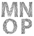 set of letters m n o and vector image vector image