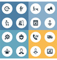 set of simple service icons vector image vector image