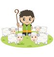 shepherd boy vector image