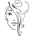 Stylish beautiful model for fashion design vector image
