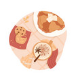 sweet breakfast or lunch top view pancakes vector image vector image
