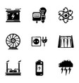 tension icons set simple style vector image vector image