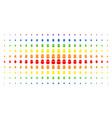 terrorist balaklava spectrum halftone pattern vector image vector image