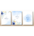 watercolor hand painted beautiful invitation vector image vector image