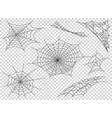 web spider cobweb icons set outline vector image vector image