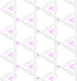 White colored paper pink triangles with clubs vector image