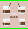 white russian cocktail vector image vector image
