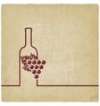 wine menu old background vector image vector image