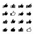 Like set icons vector image