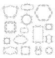 Ornamental borders and frames with swirls vector image