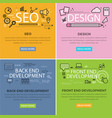 set of internet technology web banners vector image