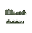 silhouette cityscapes set with isolated white vector image