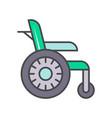 disability wheelchair linear icon vector image