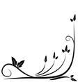 Floral black border vector image