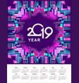 2019 year calendar city vector image vector image