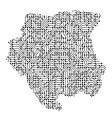 abstract schematic map of suriname from the black vector image vector image