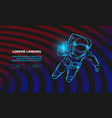 astronaut flying in space and catches light in vector image vector image