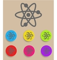Atomic Symbol Icon with Color Variations vector image vector image