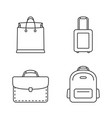 bags line icons vector image