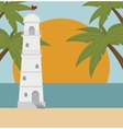 beautiful summer landscape icon vector image vector image