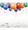 Birthday celebration with balloon vector image vector image