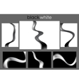 Black and white abstract waves collection vector image vector image