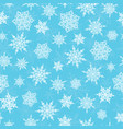 blue white hand drawn christmass snowflakes vector image vector image