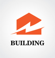 Building energy electricity logo vector image vector image