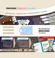 business stationery background vector image