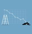 businessman fainted on floor as stock vector image