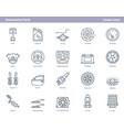 car automotive parts - outline icons set vector image