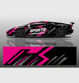 car decal wrap design vector image vector image