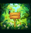 cartoon jungle background tropical forest nature vector image vector image