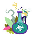 chemical substance to save people and mankind vector image vector image