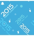 Christmas blue seamless background 2015 vector image vector image