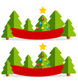 Christmas flat banner vector image vector image