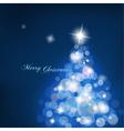 christmas tree blurred lights vector image vector image