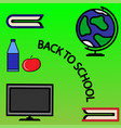 composition on school time vector image vector image