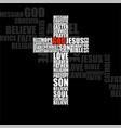 cross religious words christian symbol vector image