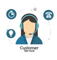 customer service character operator vector image