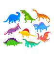 cute baby dinosaurs dragons and funny dino vector image