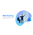 data center design concept set with hosting vector image