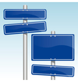 direction signs vector image vector image