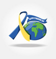 down syndrome day design vector image